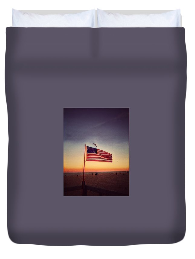 American Flag Duvet Cover featuring the photograph Old Glory by Robert Villano