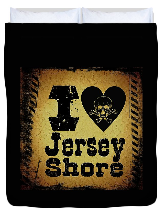 New Jersey Duvet Cover featuring the digital art Old Jersey Shore by Randolph Ping