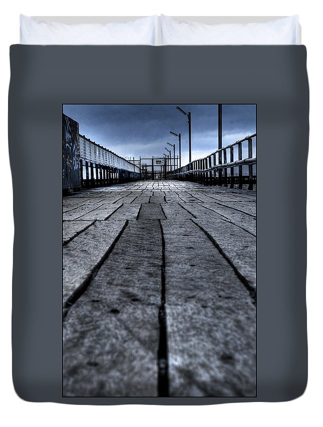 Jetty Duvet Cover featuring the photograph Old Jetty 2 by Kelly Jade King