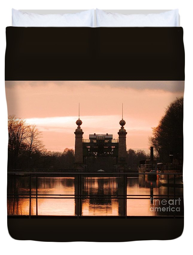 Lift Lock Duvet Cover featuring the photograph Old Lift Lock by Christiane Schulze Art And Photography