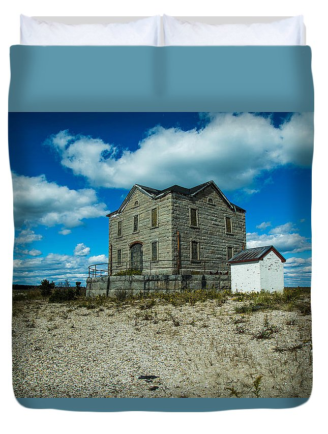 Old Duvet Cover featuring the photograph Old Lighthouse by Robert Rotkowitz