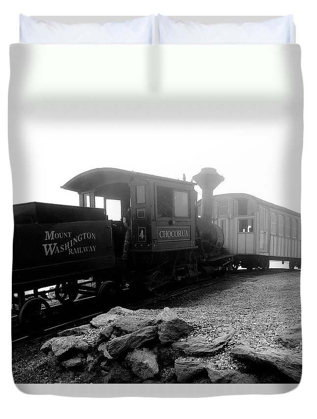 Train Duvet Cover featuring the photograph Old Locomotive by Sebastian Musial