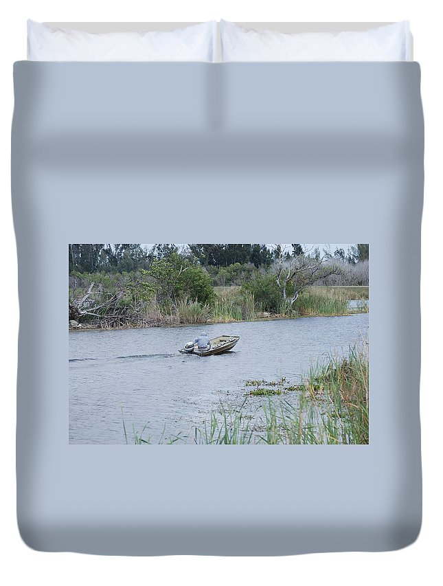 River Duvet Cover featuring the photograph Old Man River by Rob Hans
