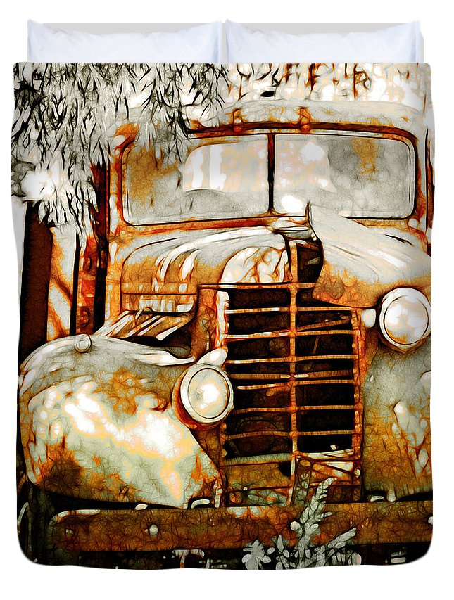 Transportation Duvet Cover featuring the photograph Old Memories Never Die by Holly Kempe