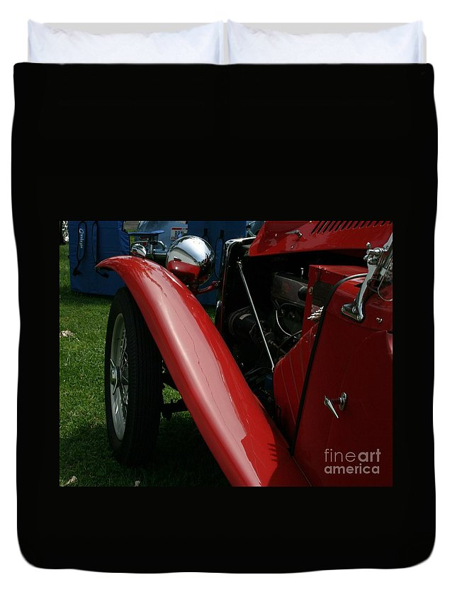 Mg Duvet Cover featuring the photograph Old Mg by Dawn Downour