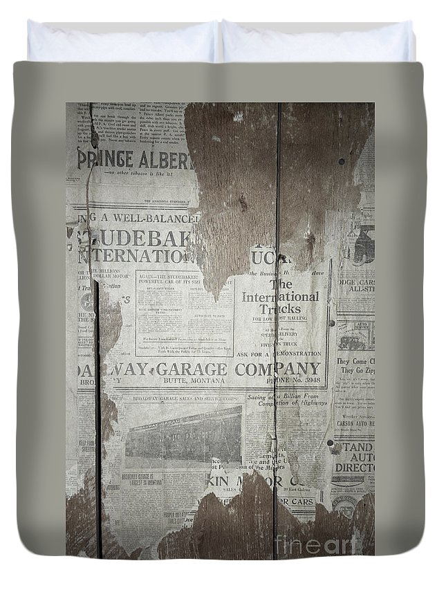 Newspapers Duvet Cover featuring the photograph Old News by Richard Rizzo
