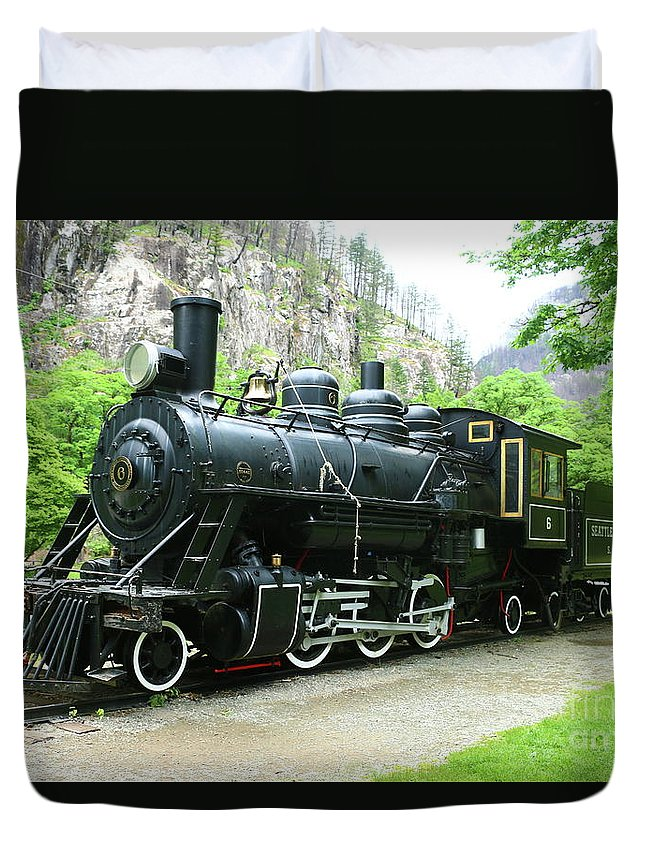 Old Number Six Duvet Cover featuring the photograph Old Number Six by Christiane Schulze Art And Photography