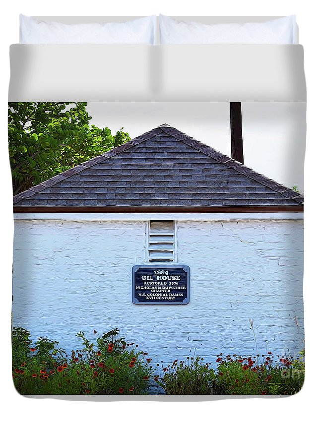 Old Oil House Duvet Cover featuring the photograph Old Oil House by Patti Whitten
