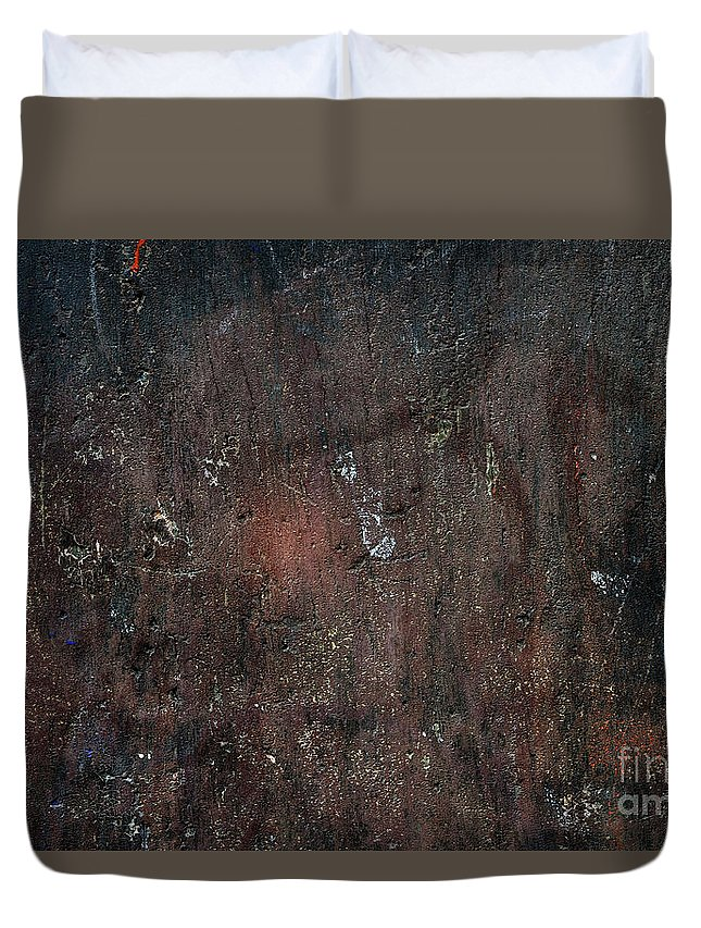 Wall Duvet Cover featuring the photograph Old Plastered And Painted Wall by Elena Elisseeva