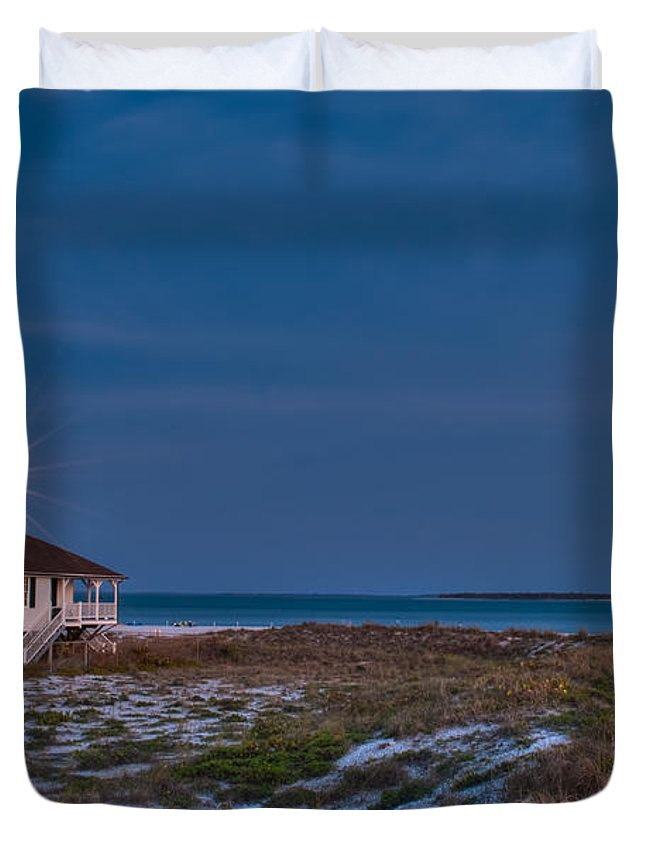 Lighthouse Duvet Cover featuring the photograph Old Port Boca Grande Lighthouse by Rich Leighton