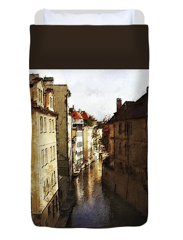 Landscape Duvet Cover featuring the photograph Old Prague by Jo-Anne Gazo-McKim