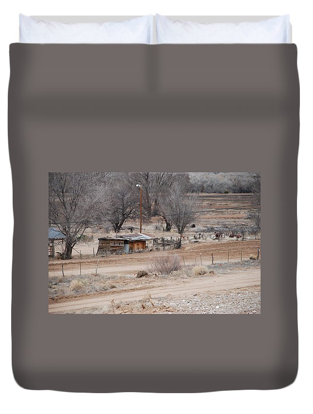 House Duvet Cover featuring the photograph Old Ranch House by Rob Hans