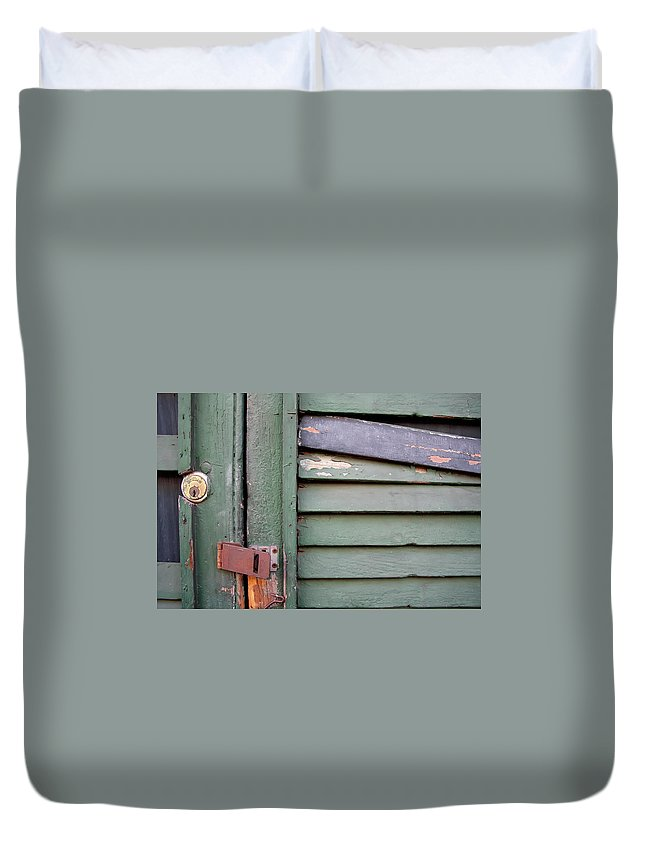 New Orleans Duvet Cover featuring the photograph Old Shutters French Quarter by KG Thienemann