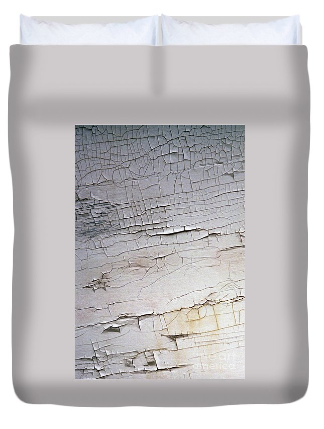 Paint Duvet Cover featuring the photograph Old Siding by Richard Rizzo