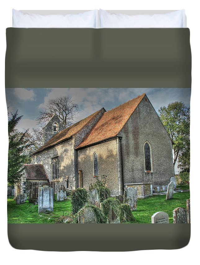 Old St Marys Walmer Duvet Cover featuring the photograph Old St Mary's Walmer by Dave Godden