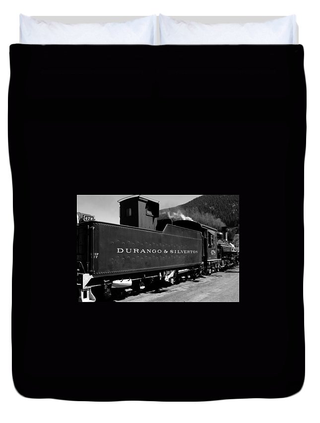 Durango And Silverton Duvet Cover featuring the photograph Old Steam by David Lee Thompson