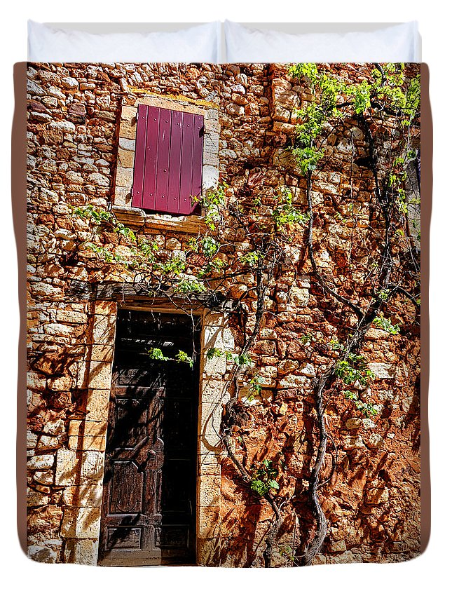 Provence Duvet Cover featuring the photograph Old Stone House In Provence by Olivier Le Queinec
