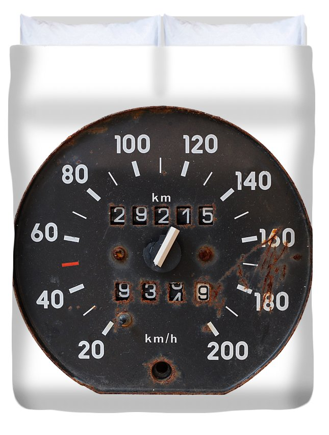 Tachometer Duvet Cover featuring the photograph Old Tachometer by Michal Boubin