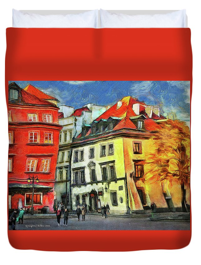 Duvet Cover featuring the photograph Old Town In Warsaw # 27 by Aleksander Rotner