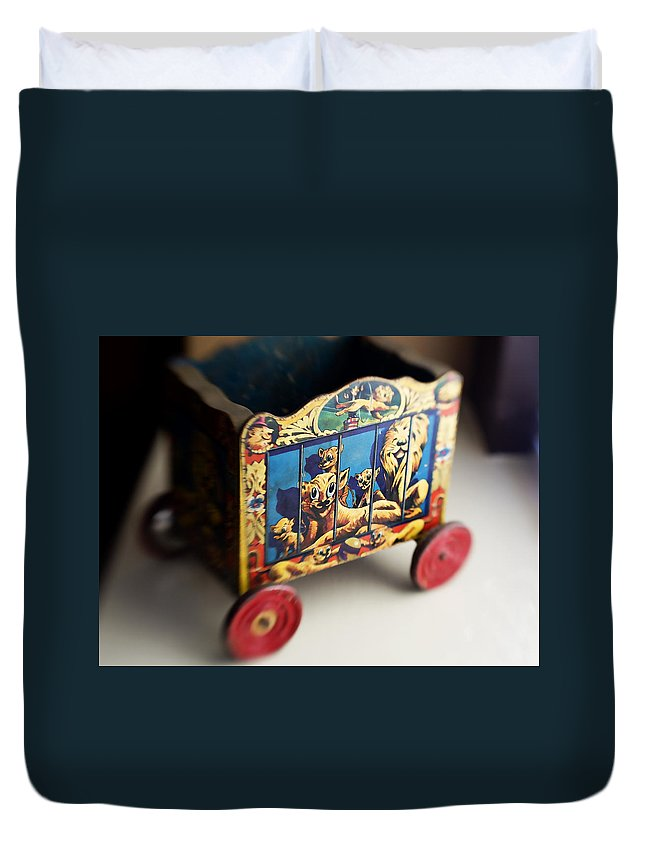 Americana Duvet Cover featuring the photograph Old Toy by Marilyn Hunt