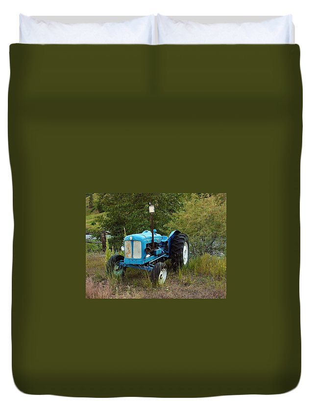 Tractor Duvet Cover featuring the photograph Old Tractor 3 by Sara Stevenson