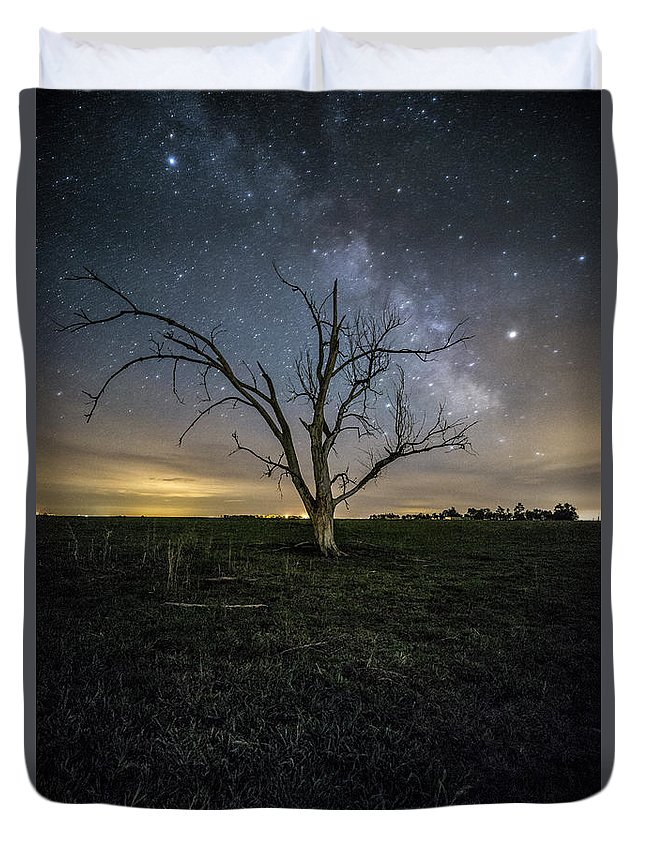 Sky Duvet Cover featuring the photograph Old Tree by Aaron J Groen