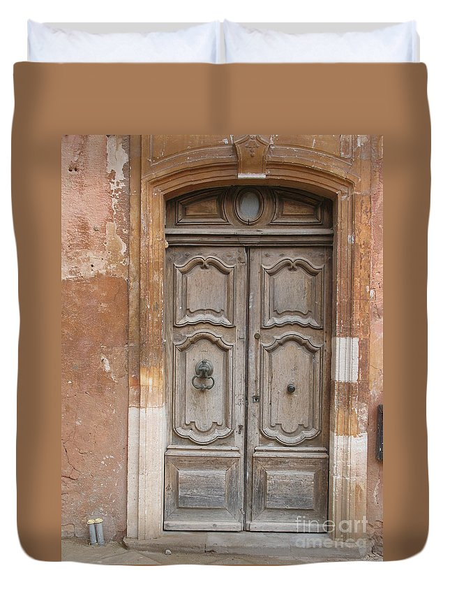 Door Duvet Cover featuring the photograph Old Wood Door - France by Christiane Schulze Art And Photography
