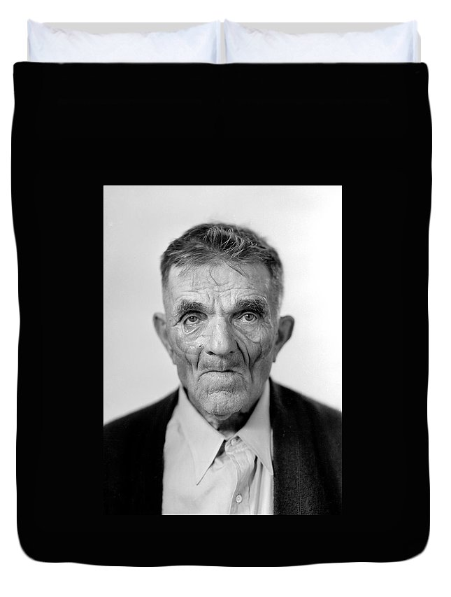 Centenarian Duvet Cover featuring the photograph Older Than You by Seely Studio