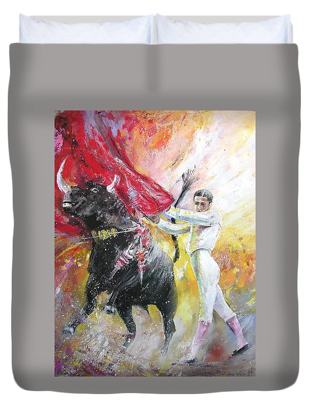 Animals Duvet Cover featuring the painting Ole by Miki De Goodaboom