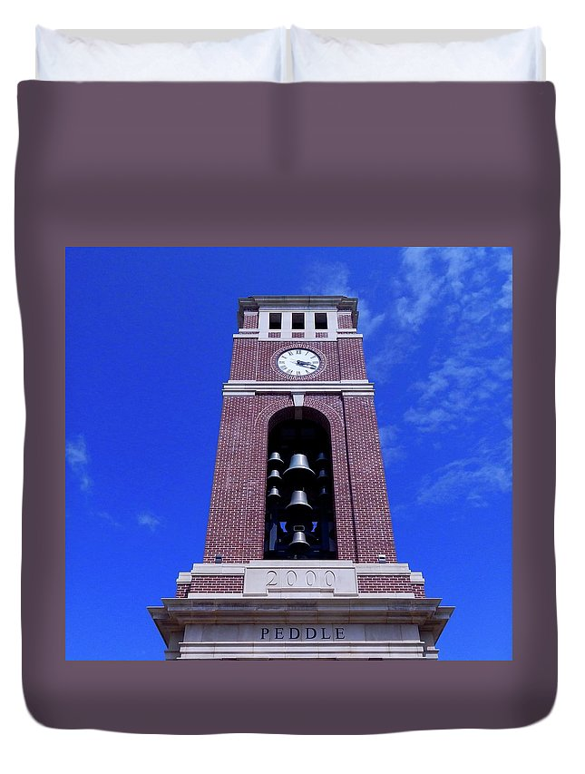 Bells Duvet Cover featuring the photograph Ole Miss Bell Tower by Terry Cobb