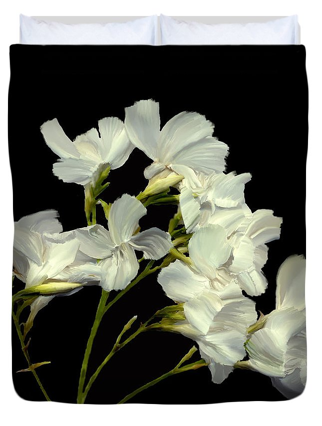 Flowers Duvet Cover featuring the photograph Oleander by Kurt Van Wagner