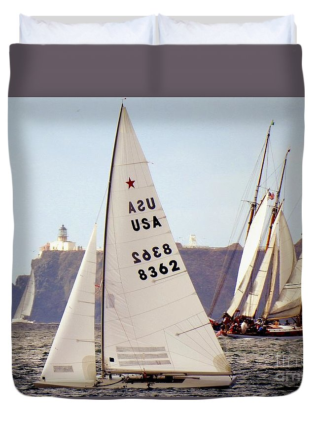 Iscyra-district 5-star Class Duvet Cover featuring the photograph Olympic Class by Scott Cameron