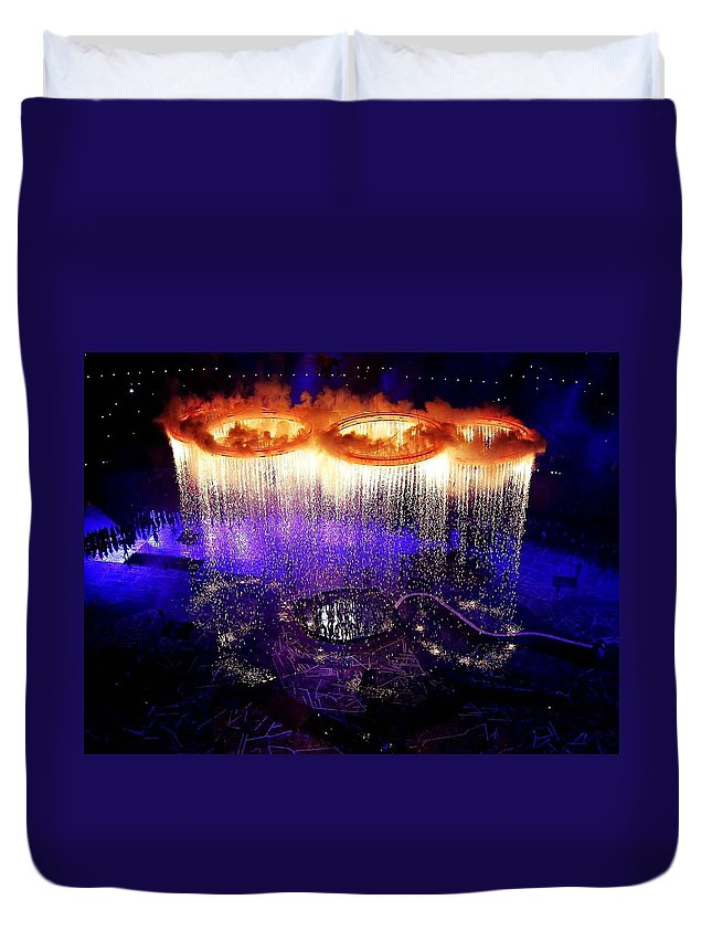 Olympic Games Duvet Cover featuring the digital art Olympic Games by Bert Mailer