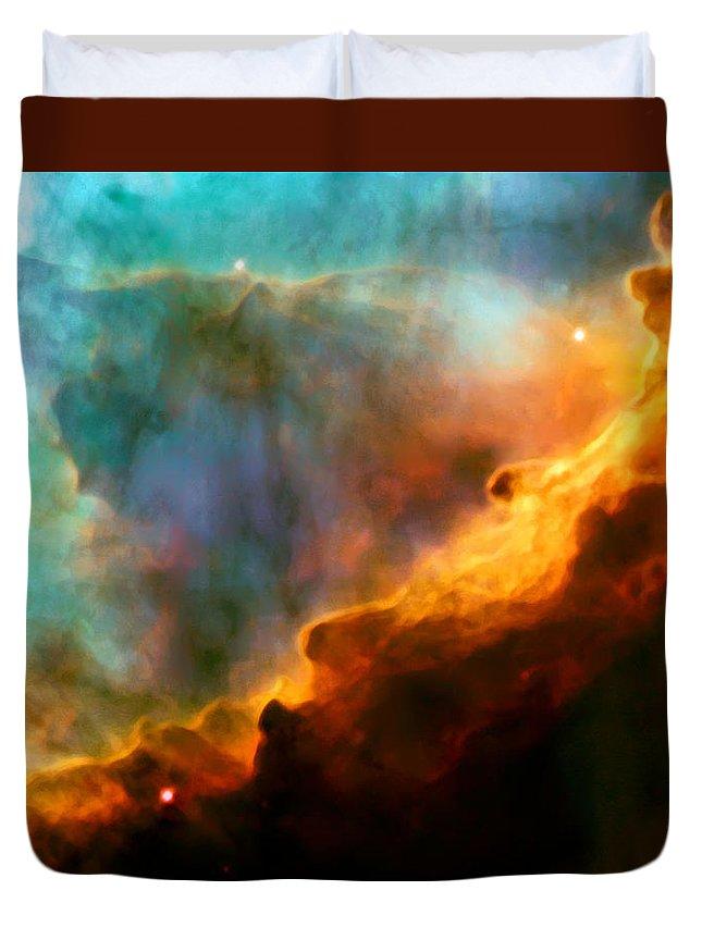 Nebula Duvet Cover featuring the photograph Omega Swan Nebula 3 by Jennifer Rondinelli Reilly - Fine Art Photography
