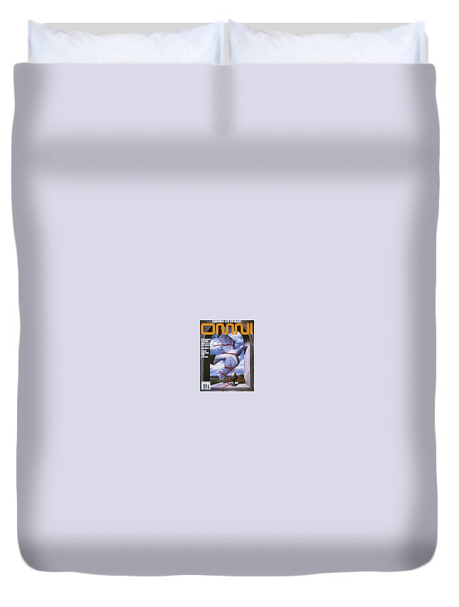 Amulet Duvet Cover featuring the digital art Omni Jul 1992 Rafal Olbinski by Eloisa Mannion