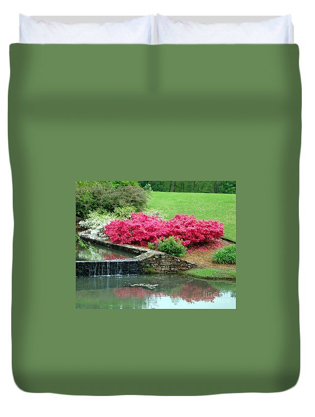 Landscape Duvet Cover featuring the photograph On A June Day by Kathy Bucari