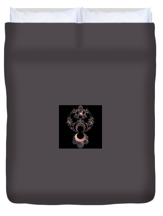 Abstract Art Duvet Cover featuring the digital art On A Mirror by John Welles