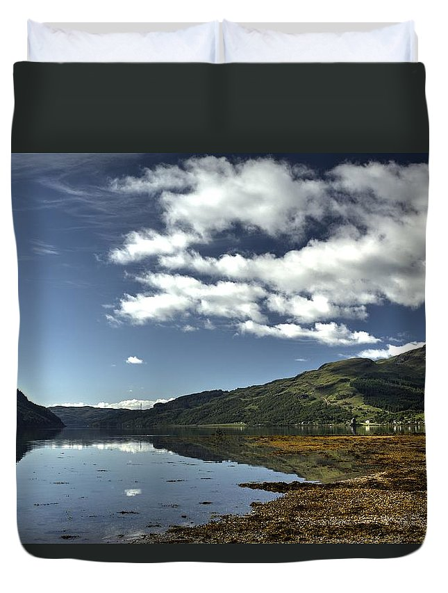 Beach Duvet Cover featuring the photograph On The Beach by Chris Whittle