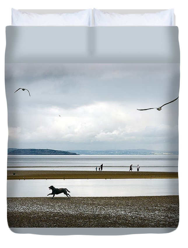 Beach Duvet Cover featuring the photograph On The Beach by Mal Bray
