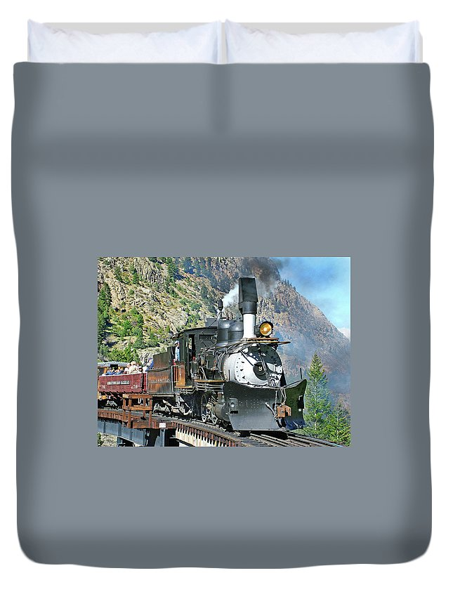 C&s #9 Duvet Cover featuring the photograph On The Bridge by Ken Smith