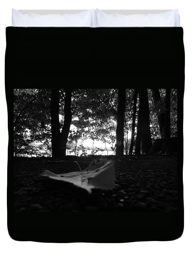 Duvet Cover featuring the photograph On The Edge by Trish Hale