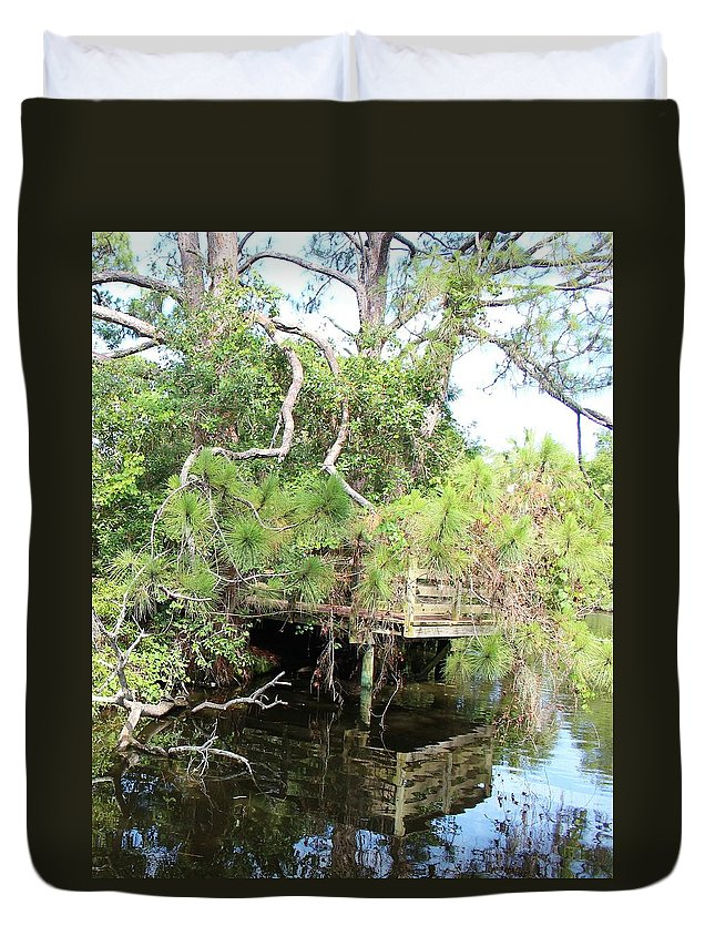 Water Duvet Cover featuring the photograph On The Lake by Ronald Lake