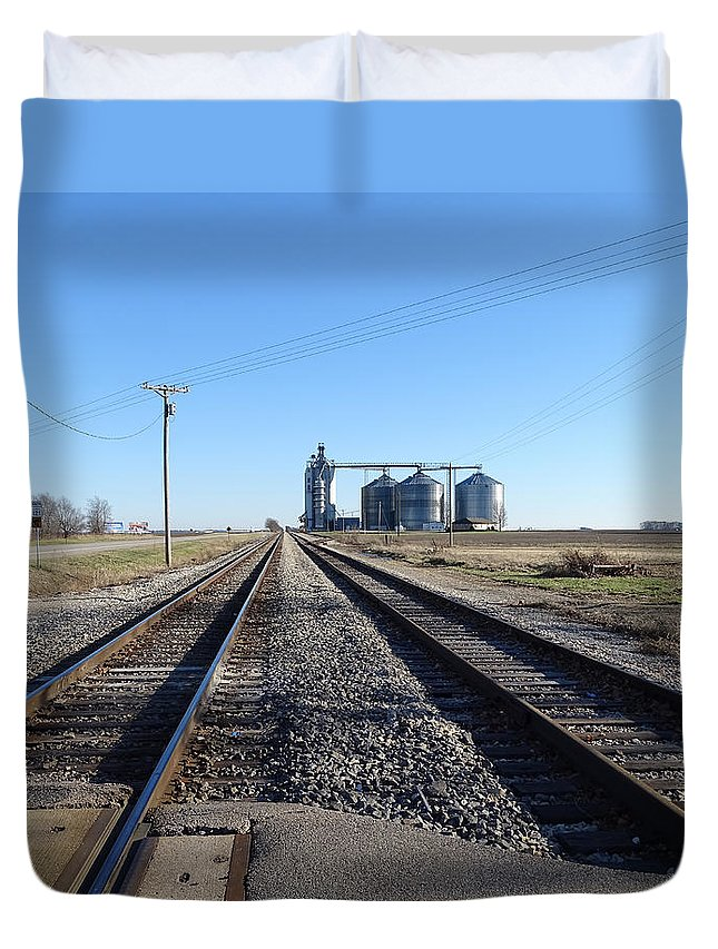 Theresa Campbell Duvet Cover featuring the photograph On The Right Tracks by Theresa Campbell