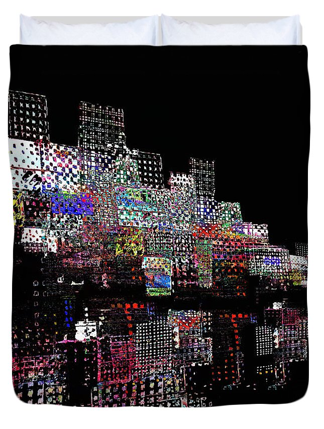 Waterfront Duvet Cover featuring the digital art On The Waterfront 2 by Andy Mercer