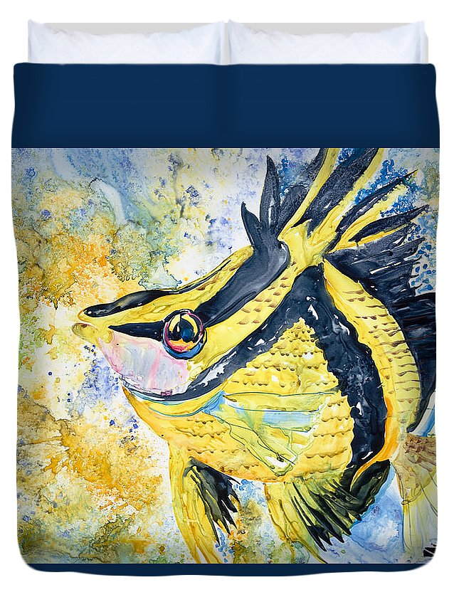 Animal Art Duvet Cover featuring the painting On Wings by Tanya L Haynes - Printscapes