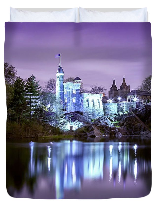 New York City Duvet Cover featuring the photograph Once Upon A Time by Az Jackson