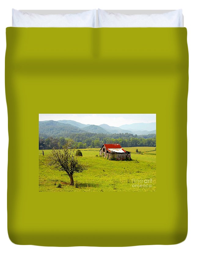 Farm Duvet Cover featuring the photograph Once Upon A Time by David Lee Thompson