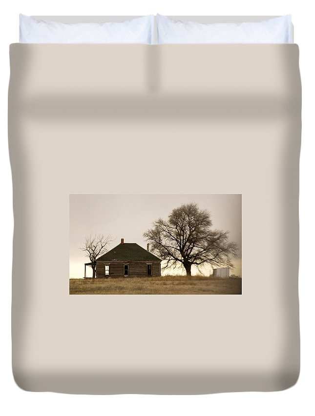 Americana Duvet Cover featuring the photograph Once Upon A Time In West Texas by Marilyn Hunt