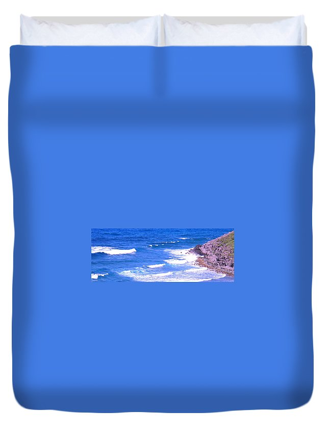 Atlantic Duvet Cover featuring the photograph One After Another by Ian MacDonald