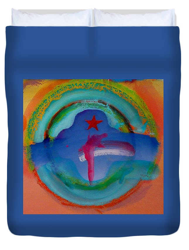 Logo Duvet Cover featuring the painting one by Charles Stuart